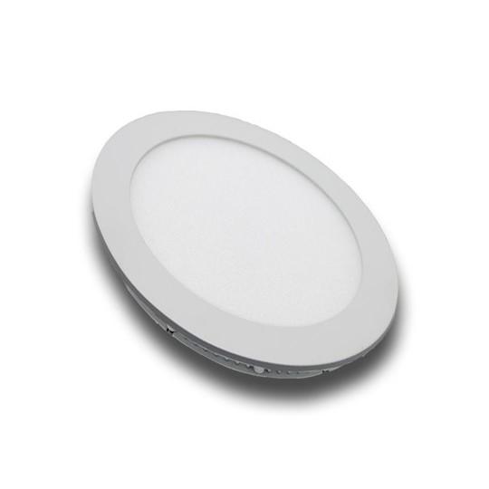 Panel LED 12W redondo blanco