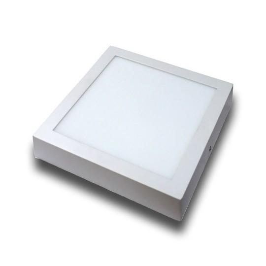 Plafón superficie LED 18W cuadrado blanco