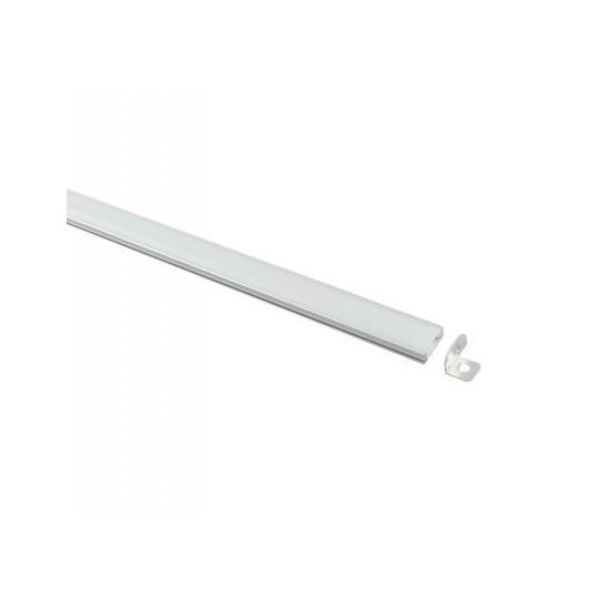 Perfil Aluminio para Tira LED -U- 1 metro