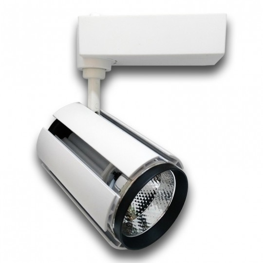 Proyector LED 30W carril monofásico 24º blanco