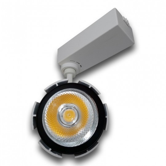 Proyector LED 30W carril monofásico 24º blanco