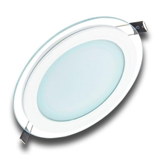 Panel LED 18W redondo cristal