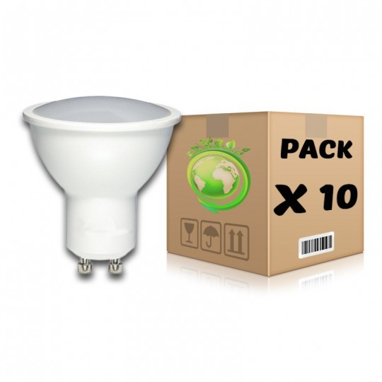 PACK Bombillas LED GU10 5W 3000K x 10 uds