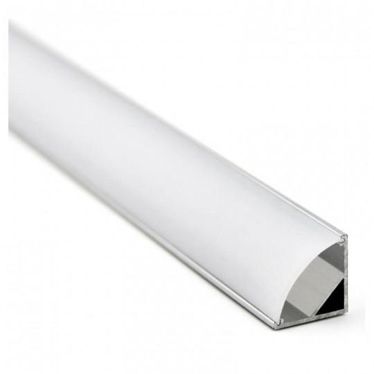 Perfil Aluminio para Tira LED -L- 2 metros