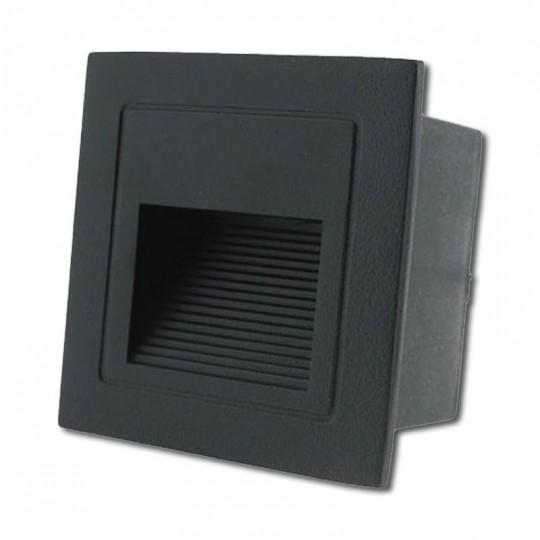 Baliza LED 3W 3000K IP54 Empotrable Cuadrada