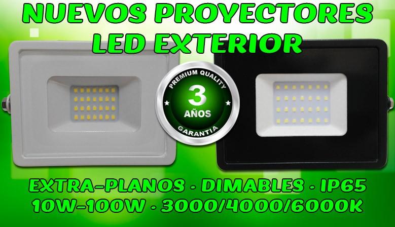 Proyectores LED exterior garantía 3 años ECO-SLIM Foreverled