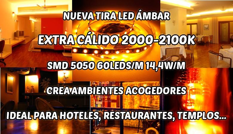 Tira LED Ámbar SMD 5050